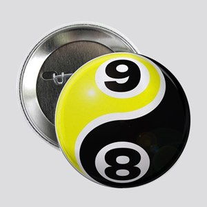 "8 Ball 9 Ball Yin Yang 2.25"" Button"