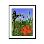 Green Zombie Framed Panel Print