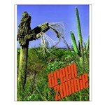 Green Zombie Small Poster