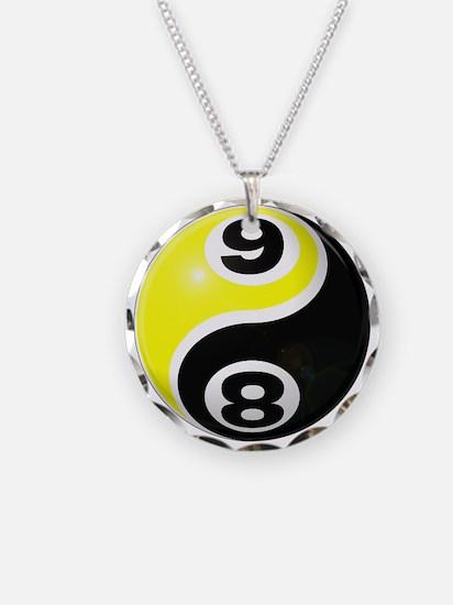 8 Ball 9 Ball Yin Yang Necklace