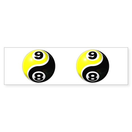 8 Ball 9 Ball Yin Yang Sticker (Bumper)