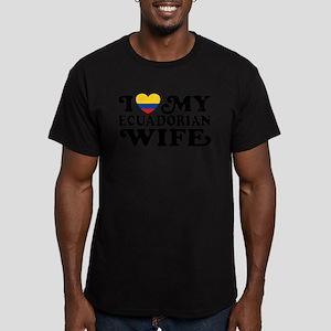 Ecuadorian Wife Men's Fitted T-Shirt (dark)
