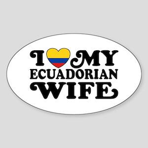 Ecuadorian Wife Sticker (Oval)
