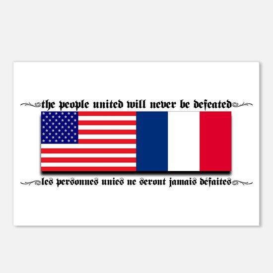USA - France Postcards (Package of 8)