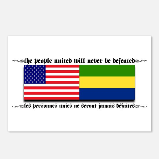 USA - Gabon Postcards (Package of 8)