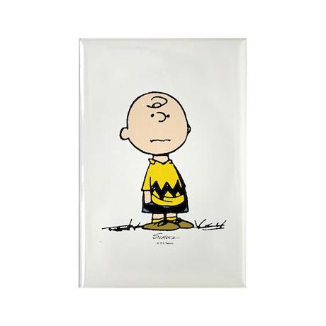 Charlie Brown Rectangle Magnet