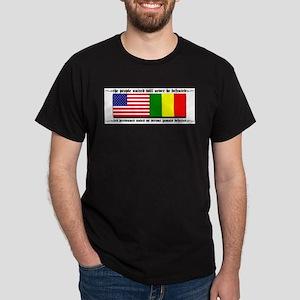 USA - Mali Black T-Shirt