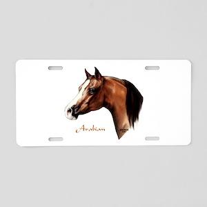 Bay Arabian Horse Aluminum License Plate