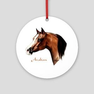 Bay Arabian Horse Ornament (Round)