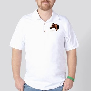 Bay Arabian Horse Golf Shirt