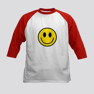 70's Smiley Face Kids Baseball Jersey
