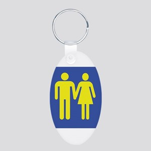 M is for Marriage Aluminum Oval Keychain