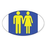 M is for Marriage Sticker (Oval)