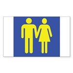 M is for Marriage Sticker (Rectangle)