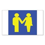 M is for Marriage Sticker (Rectangle 50 pk)