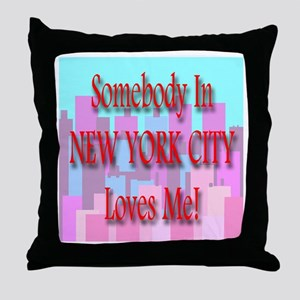 Someone In New York City Love Throw Pillow