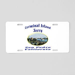Terminal Island Ferry Aluminum License Plate