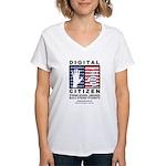 Digital Citizen Women's V-Neck T-Shirt