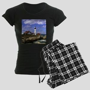 Maine Lighthouse Women's Dark Pajamas