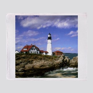 Maine Lighthouse Throw Blanket