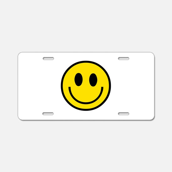 70's Smiley Face Aluminum License Plate
