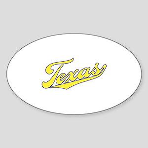Texas Sticker (Oval)