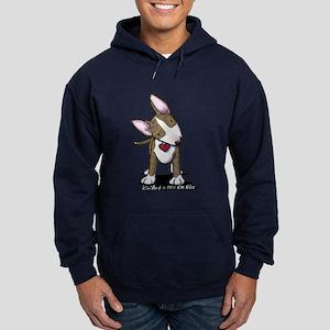 Brindle Bull Terrier Hoodie (dark)