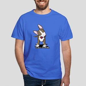 Brindle Bull Terrier Dark T-Shirt