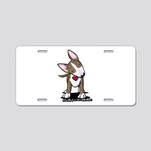 Brindle Bull Terrier Aluminum License Plate