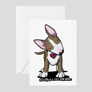 Brindle Bull Terrier Greeting Cards (Pk of 10)