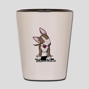 Brindle Bull Terrier Shot Glass