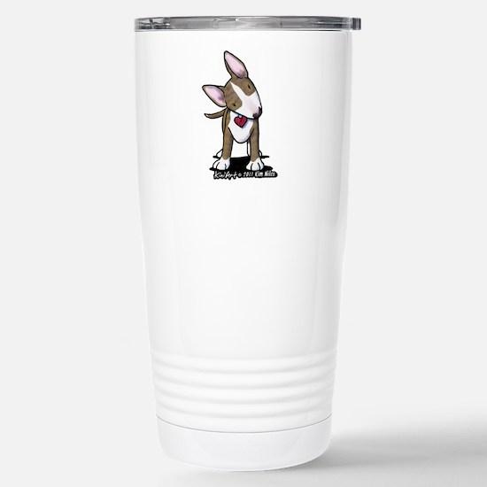 Brindle Bull Terrier Stainless Steel Travel Mug