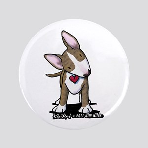 "Brindle Bull Terrier 3.5"" Button"