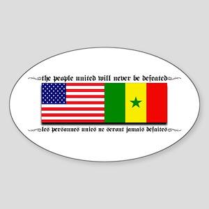 USA - Senegal Oval Sticker