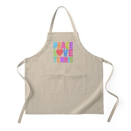Peace Love Tennis Apron