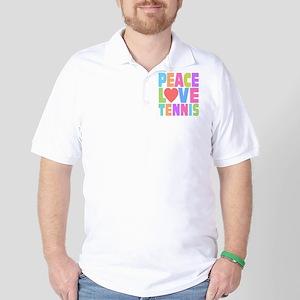 Peace Love Tennis Golf Shirt