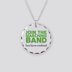 Join the Marching Band Necklace Circle Charm