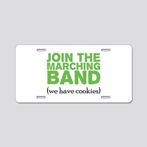 Join the Marching Band Aluminum License Plate