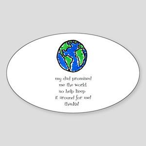 Earth Day- Kids Oval Sticker