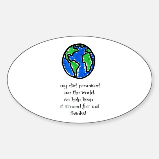 Earth Day- Kids Oval Decal