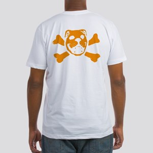 Logo & Skull Duo (Orange) - Fitted T-Shirt