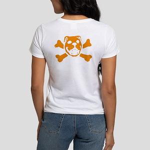 Logo & Skull Duo (Orange) - Women's T-Shirt