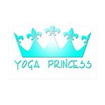 Yoga Princess-Teal 38.5 x 24.5 Wall Peel