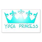 Yoga Princess-Teal Sticker (Rectangle)