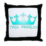 Yoga Princess-Teal Throw Pillow