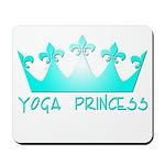 Yoga Princess-Teal Mousepad