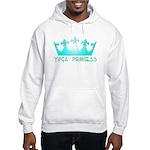 Yoga Princess-Teal Hooded Sweatshirt