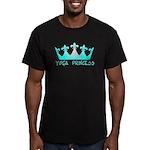 Yoga Princess-Teal Men's Fitted T-Shirt (dark)