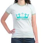 Yoga Princess-Teal Jr. Ringer T-Shirt