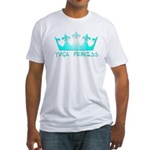 Yoga Princess-Teal Fitted T-Shirt